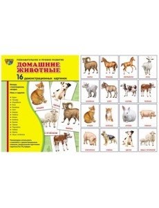 Демонстрационные картинки Супер. Домашние животные. 16 демонстрационных картинок с текстом