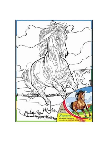 """Холст """"Лошадь"""", с красками, 30х40 см"""