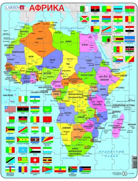 """Пазл """"Африка"""" (Русский), 48 деталей"""