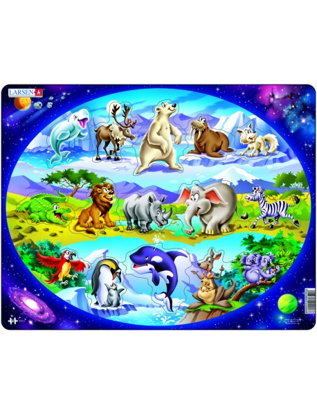 """Пазл """"Планета животных """", 15 деталей"""