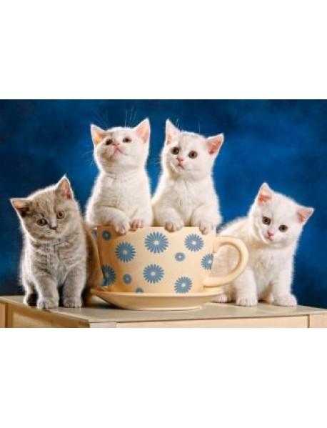 """Пазлы """"Четыре котенка и кружка"""" (500 элементов)"""