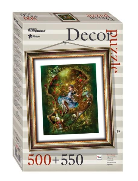 """Пластиковый пазл """"Алиса"""", 500 элементов + рамка"""