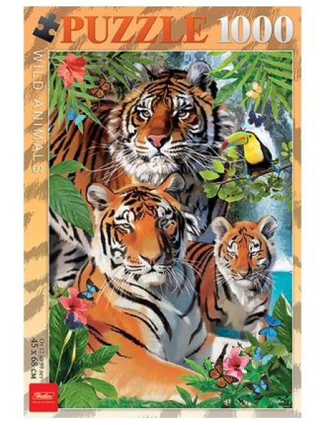 """Пазлы """"Тигриная семья"""", 1000 элементов"""