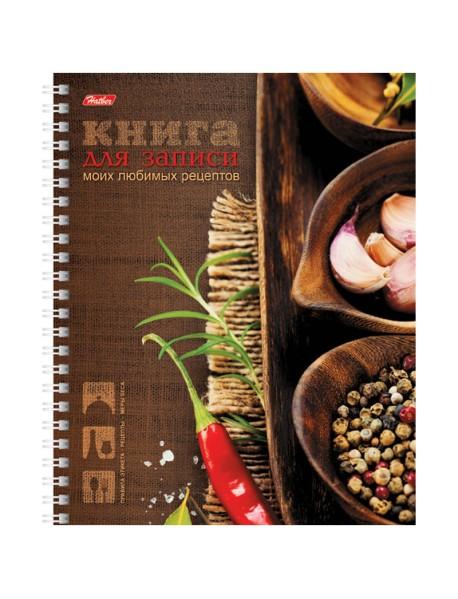 """Книга для записи рецептов """"Любимые рецепты"""", А5, 80 листов"""