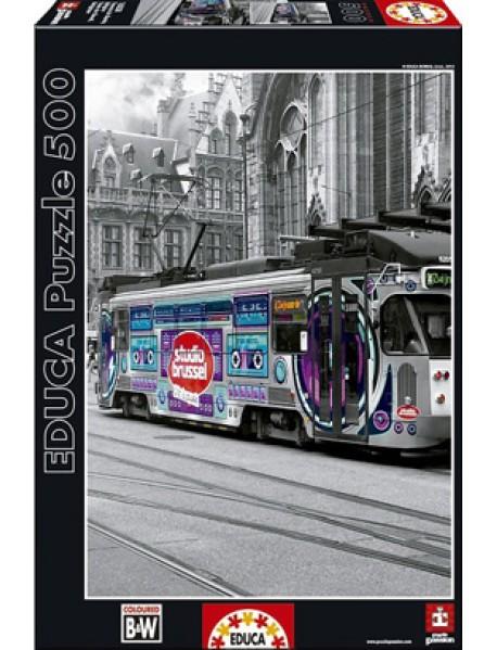 """Пазл """"Трамвай в Генте, Бельгия"""" (500 деталей)"""