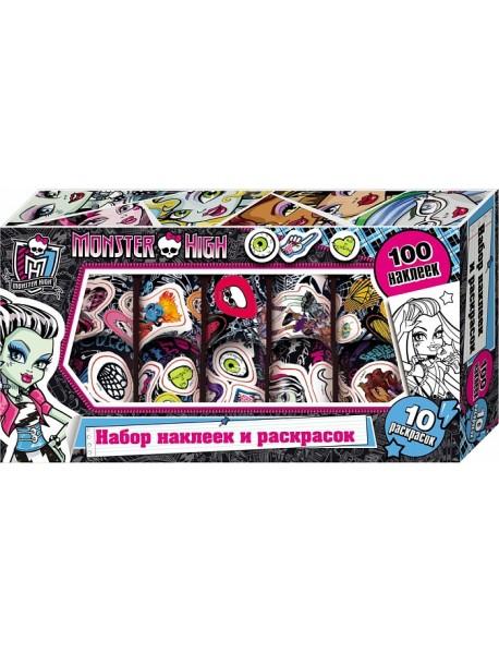 Наклейки и раскраски в коробке (розовая)