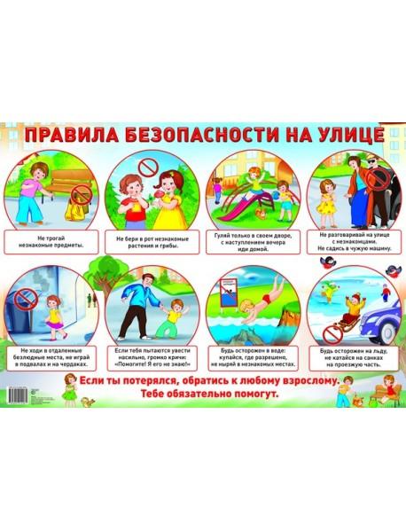 Демонстрационный плакат. Правила безопасности на улице