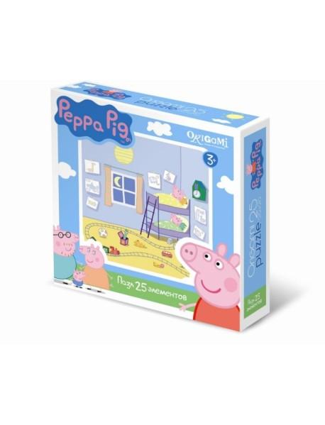 """Пазл """"Peppa Pig. Спальня Пеппы и Джорджа"""", 25 элементов, арт. 01582"""