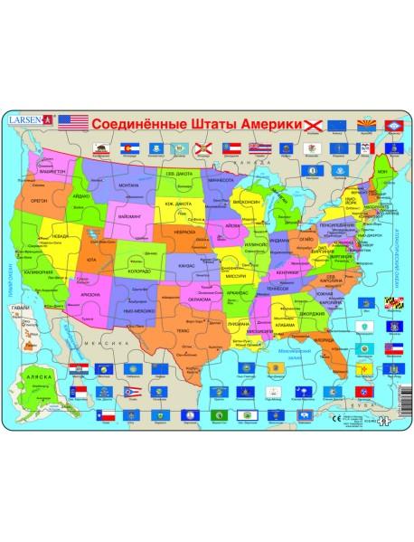 """Пазл """"Карта штатов США"""", 48 элементов"""