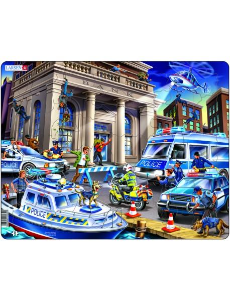 """Пазл """"Полицейские машины"""", 42 детали"""