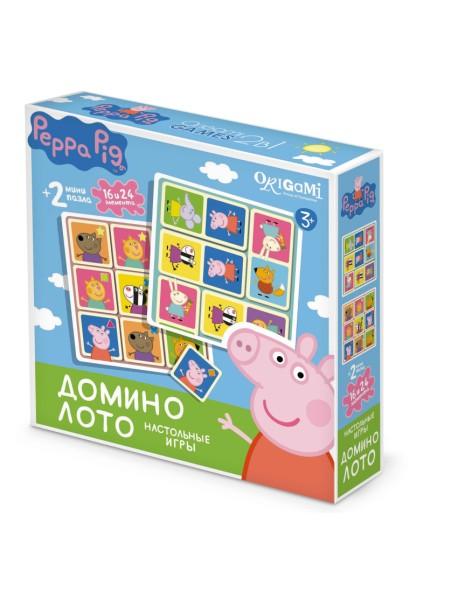 """Настольная игра 2 в 1 """"Peppa Pig. Домино и Лото"""""""