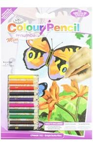 Раскраска по номерам карандашами