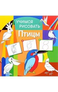 Учимся рисовать. Птицы. Развивающая книга