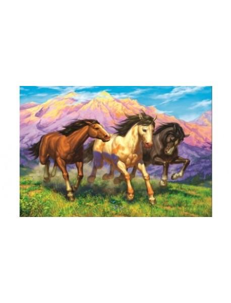 "Холст с красками ""Рисование по номерам. Резвые лошади"", 40x50 см"