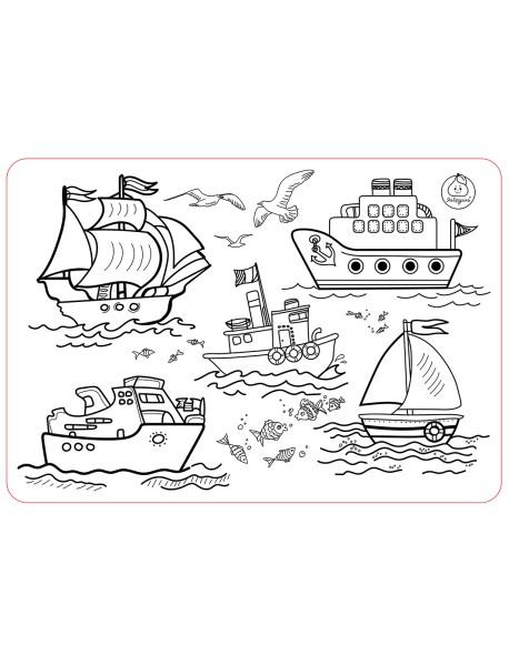 """Коврик-раскраска """"Кораблики"""" (48х33,5 см)"""