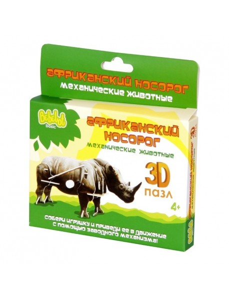 """3D пазл Bebelot Basic """"Африканский носорог"""""""