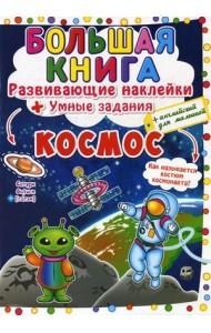 Большая книга. Космос. Развивающие наклейки. Умные задания