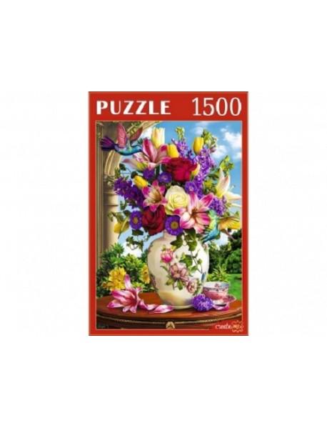 """Пазлы """"Цветы и колибри"""", 1500 элементов"""