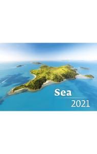 Sea (Море). Календарь настенный на пружине на 2021 год