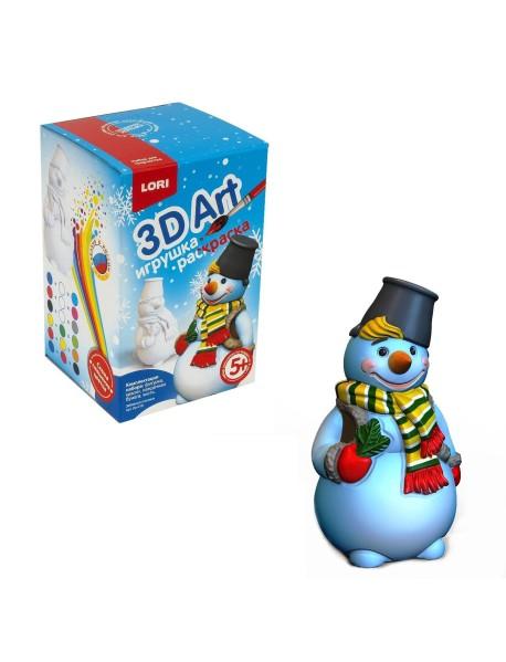 """Игрушка-раскраска """"3D Art. Забавный снеговик"""""""