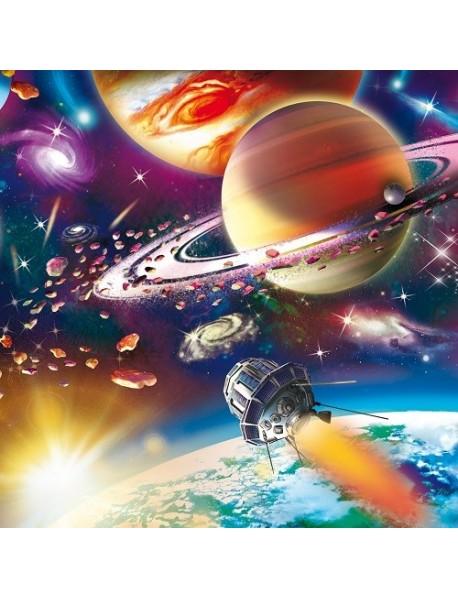 """Холст с красками """"Красочный открытый космос"""", 20х20 см"""