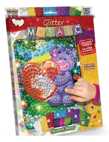 "Набор для творчества ""Блестящая мозаика. Мишка с сердечком"""