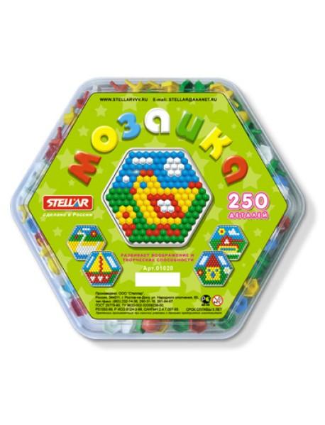 Мозаика шестигранная (250 деталей)